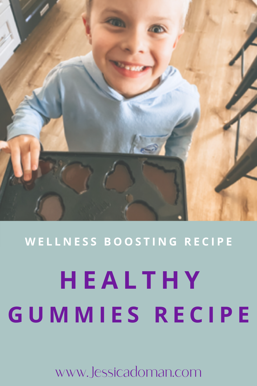 EASY healthy gummies recipe your kids will LOVE! DIY HEALTHY Gummies to boost your kids wellness this cold season! To learn how to make probiotic gummies, including benefits, head over to the blog for the recipe and benefits of these AMAZING Wellness Boosting Gummies!  How to Make Wellness Boosting Gummies | Healthy Gummies for kids | Healthy Gummies Recipe | Vitamin Gummies | Healthy Gummies Kids | Probiotic Gummies for Kids